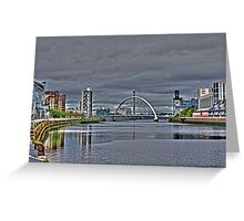The Clyde,Glasgow. Greeting Card