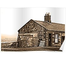 fishermans cottages ,Troon harbour. Poster