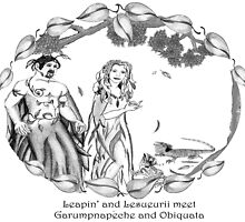 The Two Lizards meet The Dryads by Cathie Sherwood