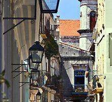 Calle Obispo in Old Havana by Yukondick