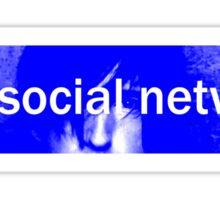 anti-social network Sticker