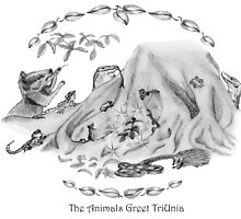 The Animals Greet TriUnia by Cathie Sherwood
