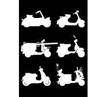 History of Vespa Photographic Print