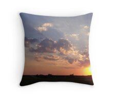 Farm Sunset 3 Throw Pillow