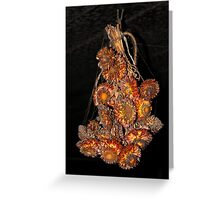 Dried Flowers Covered in Soot.  Greeting Card