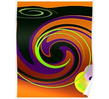 Sunset Swirl Poster