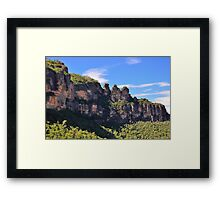 Blue Mountain Icons Framed Print