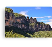 Blue Mountain Icons Canvas Print