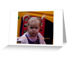 Pigtails Greeting Card