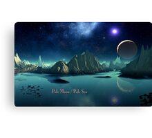 Pale Moon / Pale Sea Canvas Print
