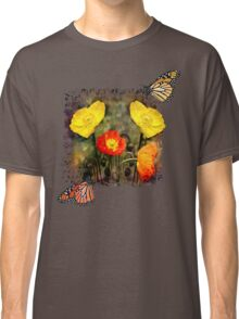 Yellow and Red Poppies Classic T-Shirt