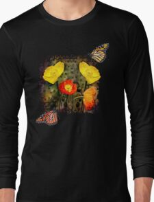 Yellow and Red Poppies Long Sleeve T-Shirt