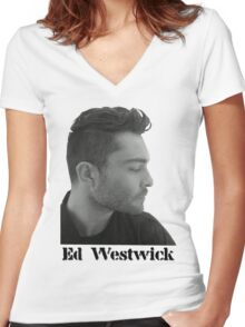 Ed Westwick Women's Fitted V-Neck T-Shirt