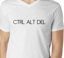 Ctrl Alt Del Mens V-Neck T-Shirt