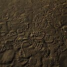 Shoe Prints in the Sand by Trudy LeDoux