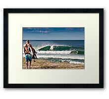 Walkin in Framed Print