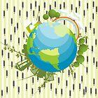 Graphic rain by Richard Laschon