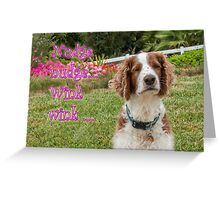 Welshie winking Greeting Card