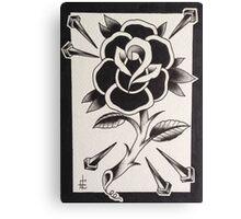 black rose  Canvas Print