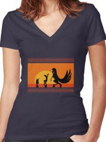 Hercules Sunset Women's Fitted V-Neck T-Shirt