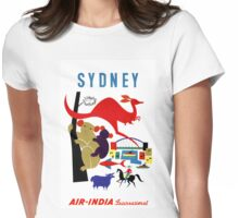 Sydney Vintage Travel Poster Restored Womens Fitted T-Shirt