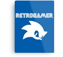 Retro gamer Sonic Shirt Metal Print