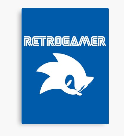 Retro gamer Sonic Shirt Canvas Print