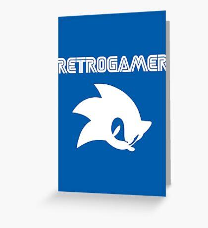 Retro gamer Sonic Shirt Greeting Card