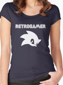 Retro gamer Sonic Shirt Women's Fitted Scoop T-Shirt
