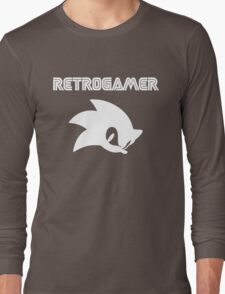 Retro gamer Sonic Shirt Long Sleeve T-Shirt