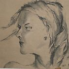 15 Minute sketch - Foxy la Femme by Michelle Gilmore