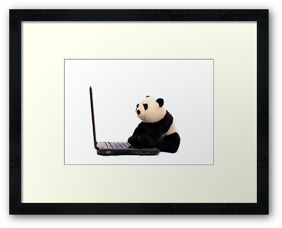 Panda and Laptop by kavisimi
