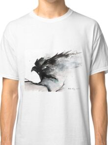 Abstract raven ink art Classic T-Shirt