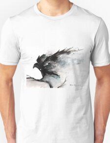 Abstract raven ink art T-Shirt