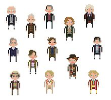 Pixel Doctor Who - First Doctor to Seventh Doctor - Set of 7 by fulifuli