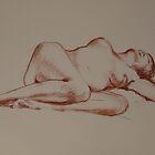 Gwyneth reclining by Michelle Gilmore