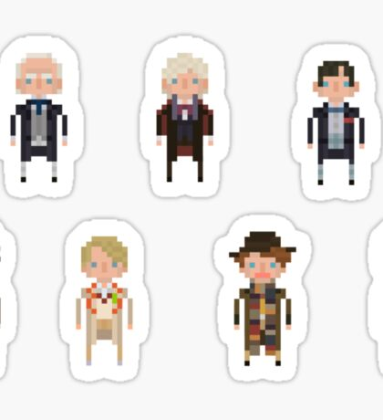 Pixel Doctor Who - First Doctor to Seventh Doctor - Set of 7 Sticker