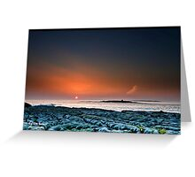 Sunset Doolin Beach, Crab Island, County Clare, Ireland.  Greeting Card