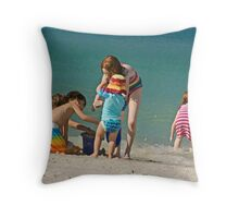 Let's build a sand castle!!!!!!!!!!!! Throw Pillow