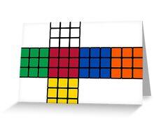Flat Rubik Cube  Greeting Card