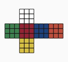Flat Rubik Cube  by Volc4no