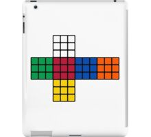 Flat Rubik Cube  iPad Case/Skin