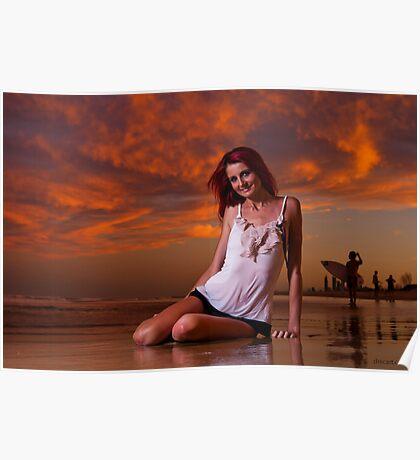 Krystal Sunset Poster