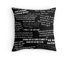 Toby/Happy Quotes Throw Pillow