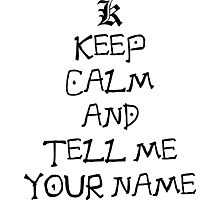 death note keep calm and tell me your name anime manga shirt Photographic Print