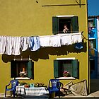 Laundry Day in Burano II by Louise Fahy