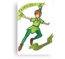 Peter Pan was right Canvas Print