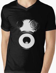 Bass Face Gas Mask Mens V-Neck T-Shirt