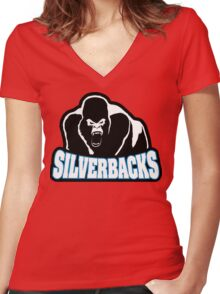 silverbacks Women's Fitted V-Neck T-Shirt
