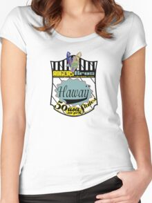 usa hawaii by rogers bros Women's Fitted Scoop T-Shirt